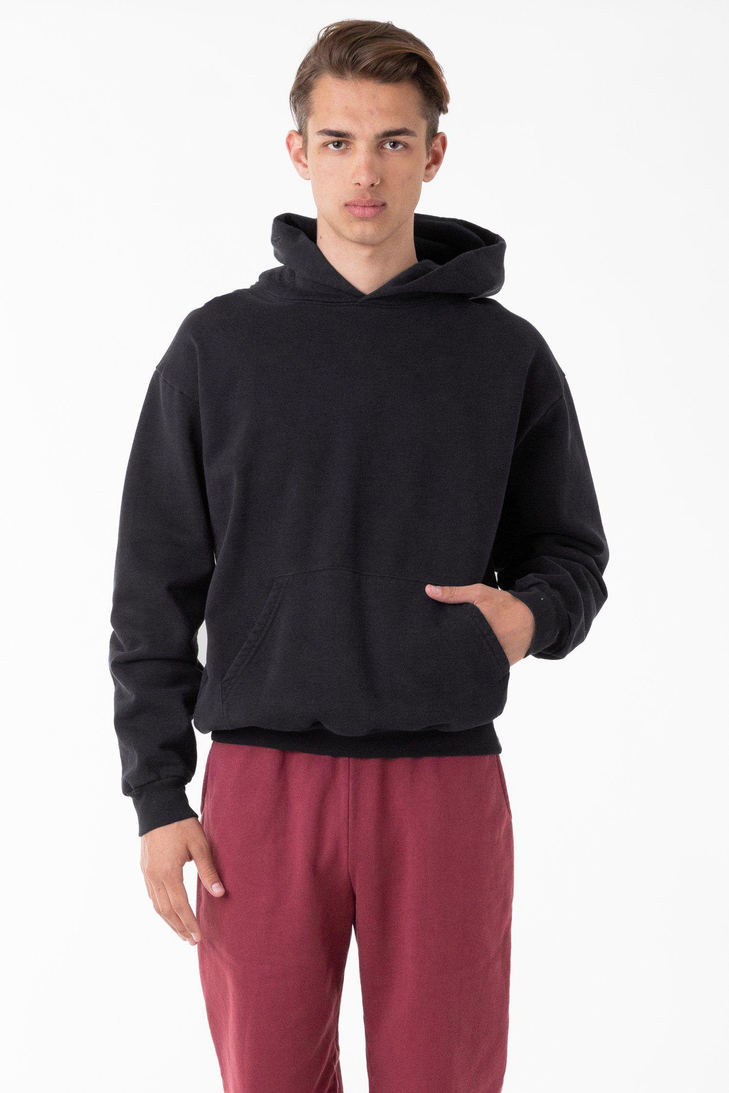 Hf09gd Garment Dye 14oz Heavy Fleece Hooded Pullover Sweatshirt Hooded Pullover Pullover Sweatshirt Garment Dye