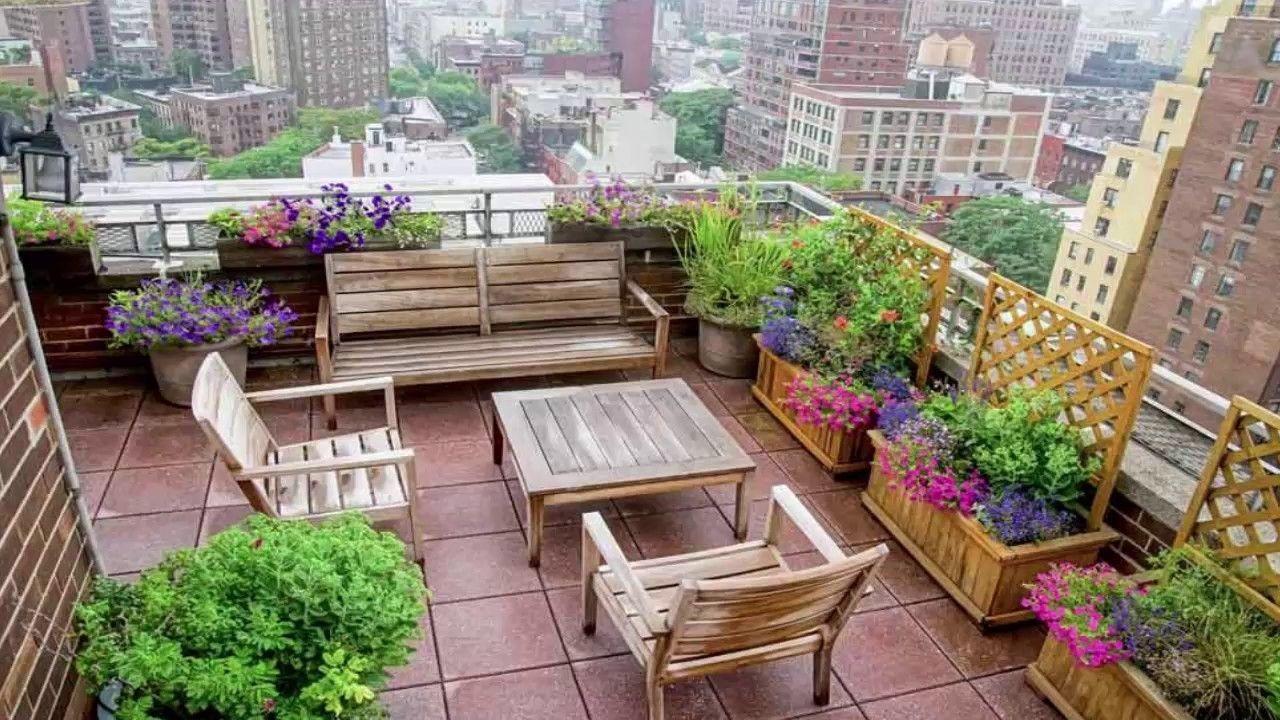 Terrace Garden Design Plan Throughout Terrace Garden Ideas Even If The Topography Of Your Backyard In 2020 Urban Garden Design Terrace Garden Design Rooftop Garden