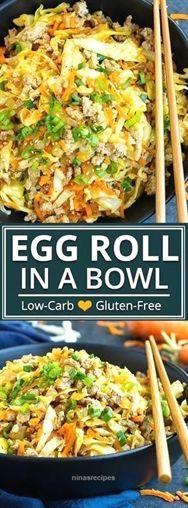 This Egg Roll in a Bowl recipe is loaded with Asian flavor and is a Paleo, Whole30, gluten-free, dai images