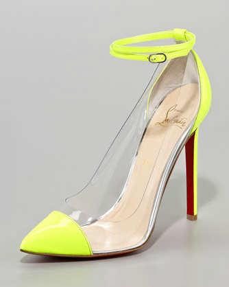 Christian Louboutin Unbout Illusion Pump. I want these in the orange!