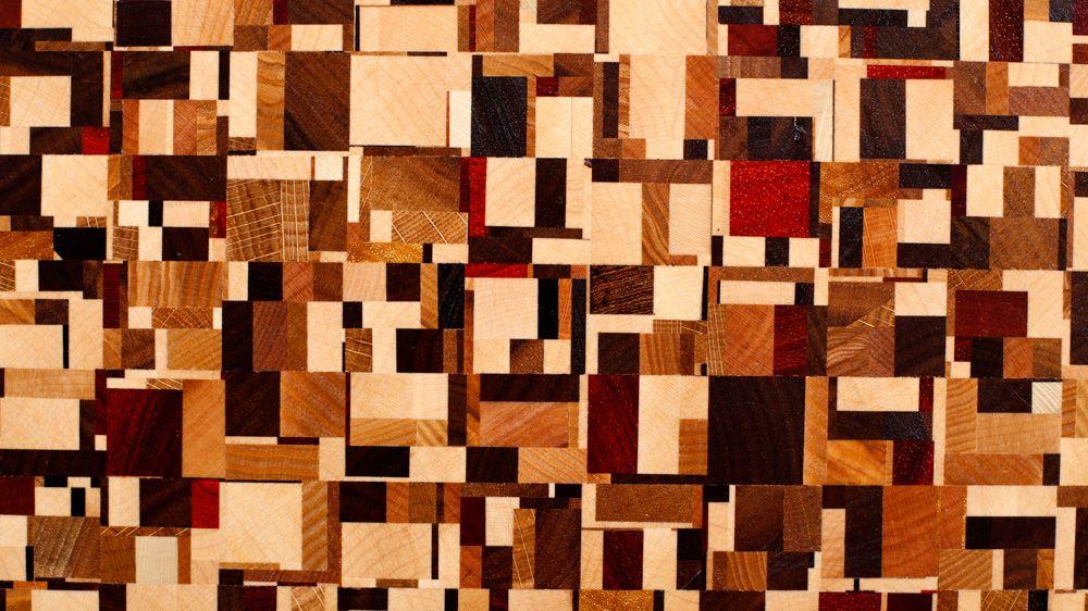Chaotic Pattern Board Wood Art