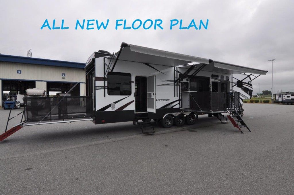ALL NEW 2016 VOLTAGE V4150 SIDE PATIO Toy Hauler by Dutchmen | Golden Gait Trailers & ALL NEW 2016 VOLTAGE V4150 SIDE PATIO Toy Hauler by Dutchmen ...