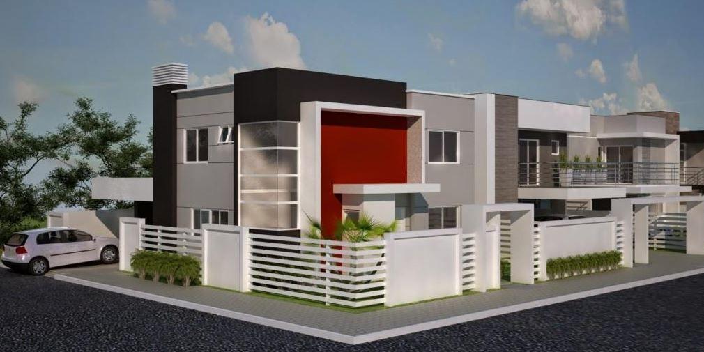 Frentes Para Casas En Esquina Con Jardin Casas Casa En Esquina Fachadas De Casas Modernas