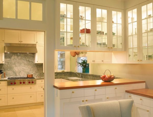 Kitchen Cabinets Glass simple ideas to change your kitchen with glass | penyimpanan