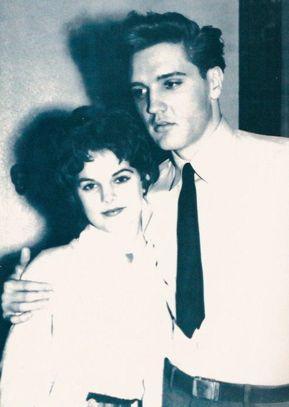 Elvis and a young Priscilla