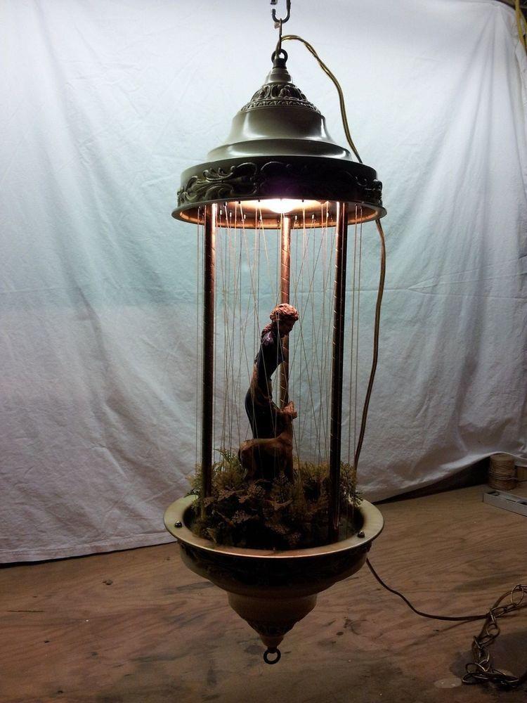 Vintage Rain Lamp Oil Motion Hanging Lamp Mid Century ...
