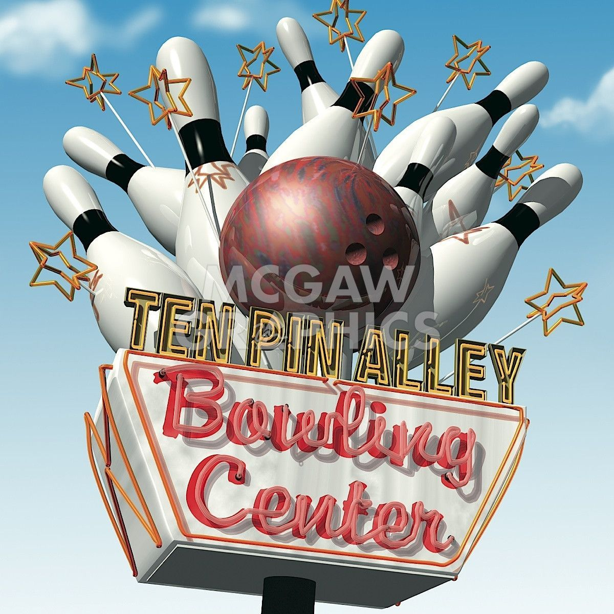 Ten Pin Alley Bowling Center Old Neon Signs Neon Signs Vintage Neon Signs