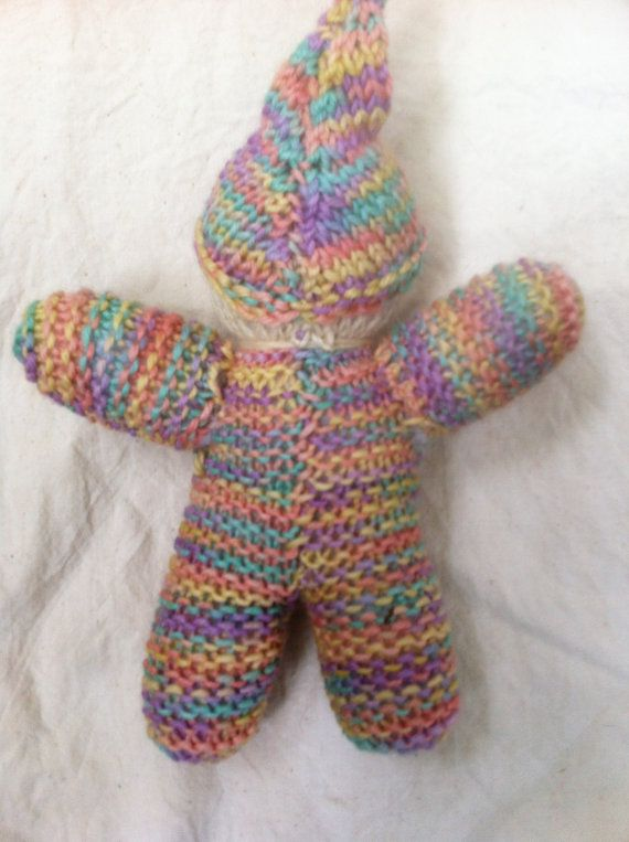 Waldorf Gnome Doll, Multi-coloured Soft Wool, 6\