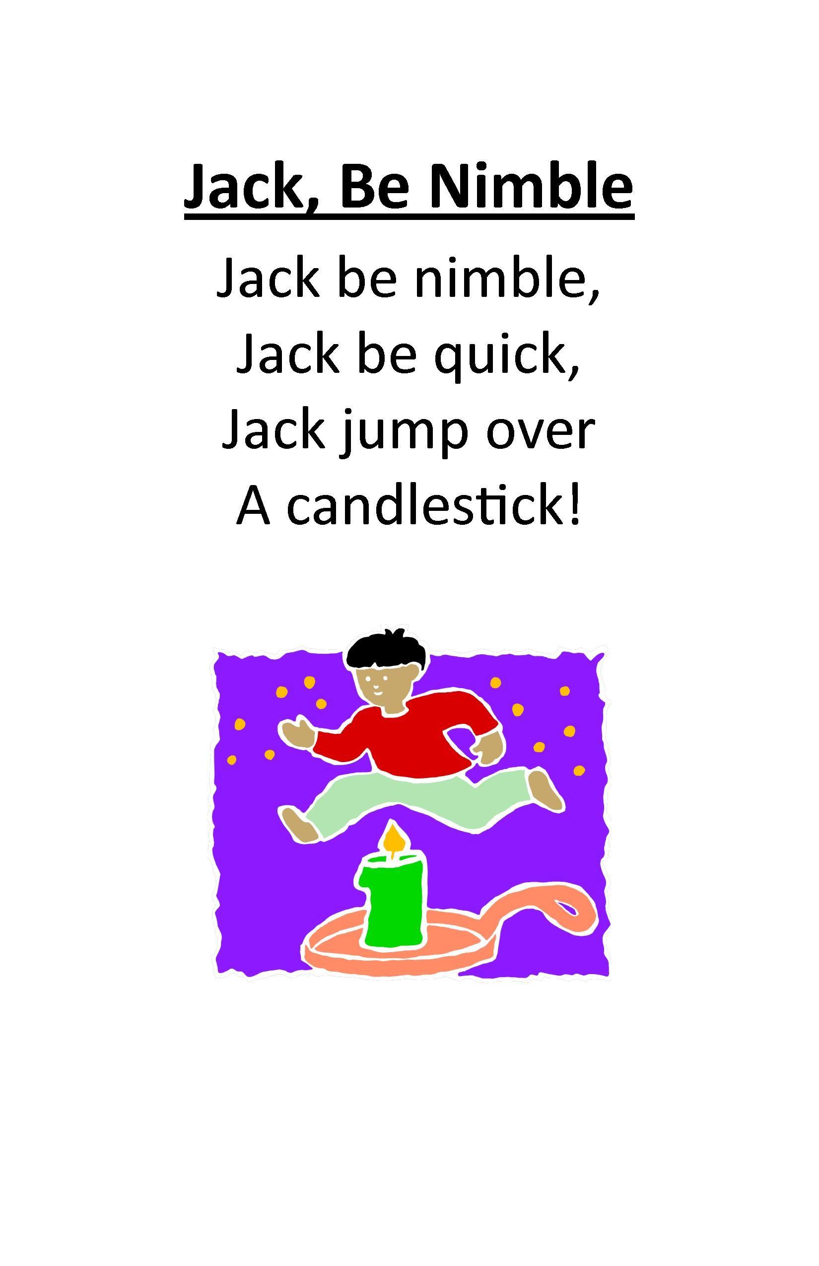 Itty Bitty Rhyme Jack Be Nimble