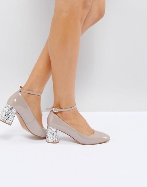 Zapatos Snowflake AsosProducts Pedrería Tacón Medio Con De XuOZikP