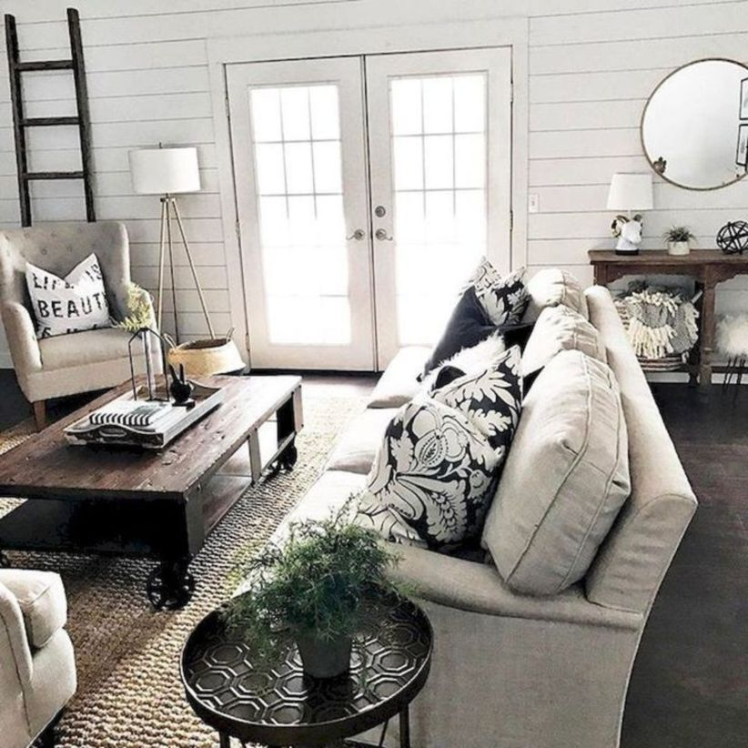 35 Rustic Modern Farmhouse Living Room Decor Ideas images
