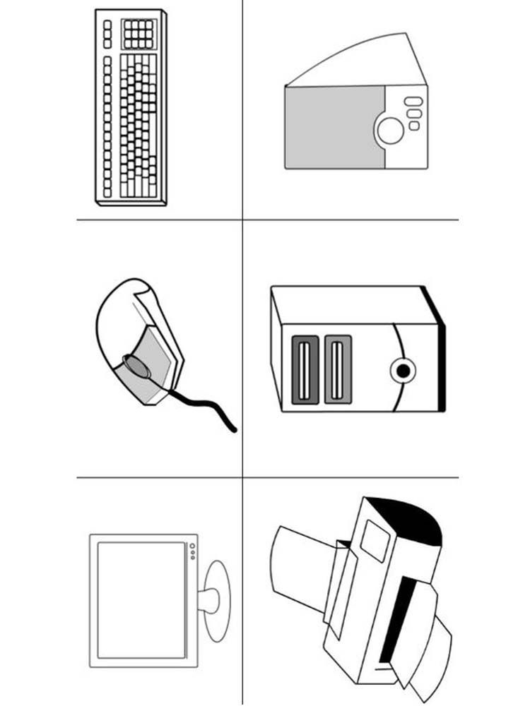 Computer Parts Coloring Pages Printable Who Doesn T Know A Computer Almost Ever In 2020 Teaching Computers Teaching Computer Skills Kindergarten Worksheets Printable