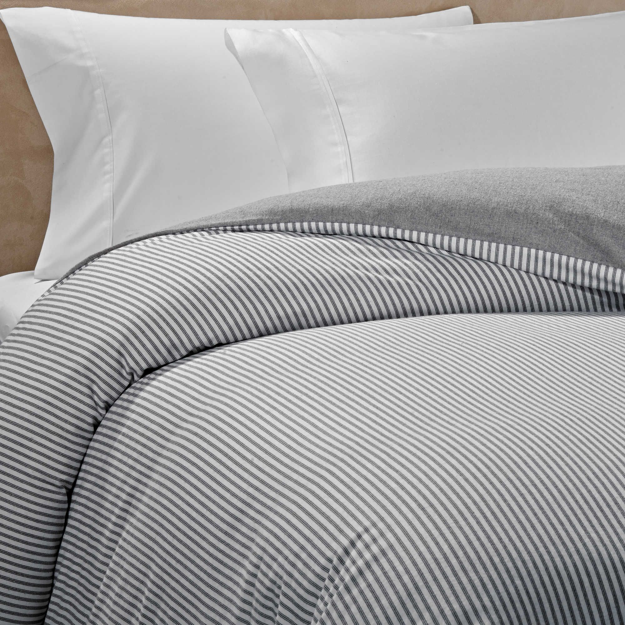 The Seasons Collection Reversible Flannel Twin Duvet Cover In Grey Stripe Flannel Duvet Cover Flannel Duvet Duvet Covers