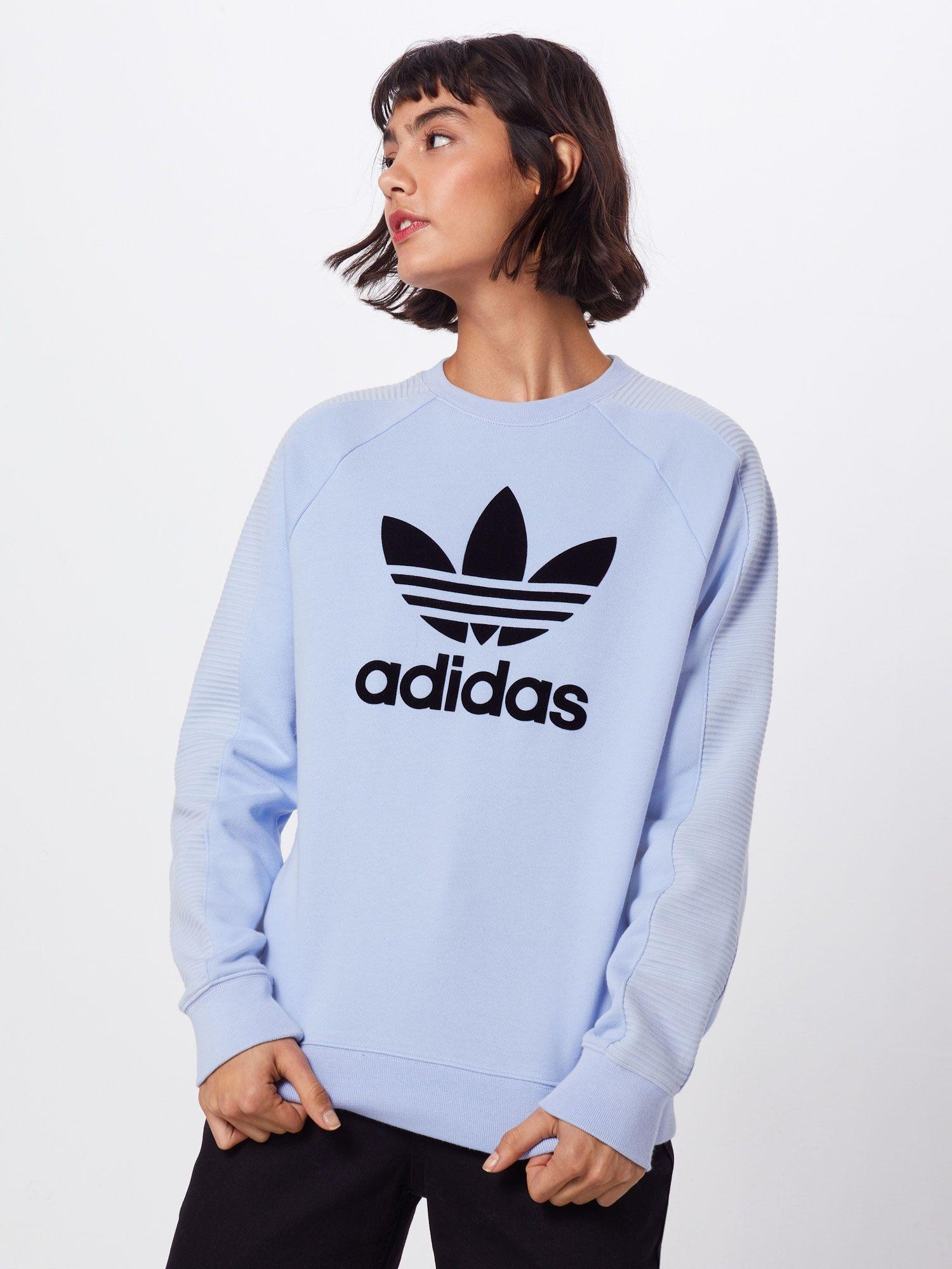 ADIDAS ORIGINALS Sweatshirt in rauchblau / schwarz