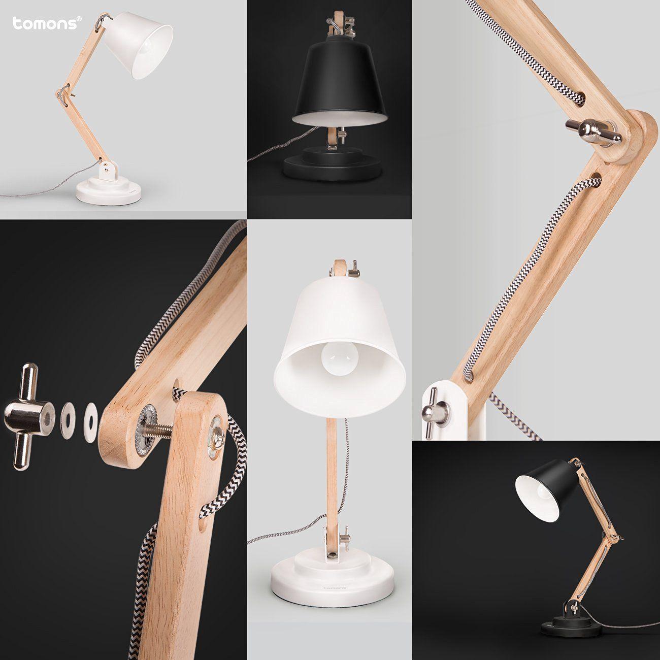 Tomons Schwenkbare Schreibtischlampe Leselampe Retro Amazon De Elektronik Schreibtischlampe Lampe Holztischlampen