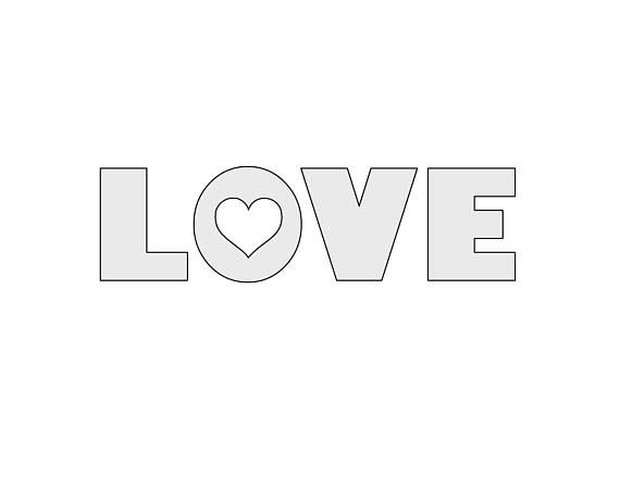 10 w x 2 8 h string art love word with heart template pattern