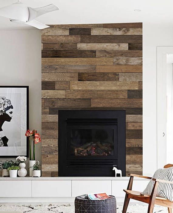 Reclaimed Wood Accent Mural Wallpaper