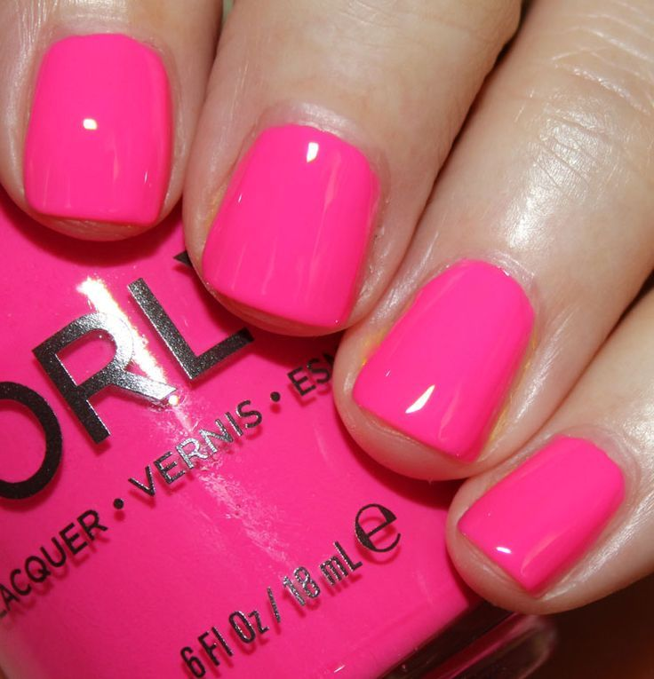 Bubblegum Pink With Images Nails Neon Nails Nail Designs