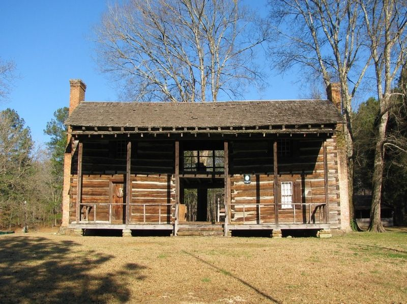 Log Cabins · Historic John Looney House   Asheville, Alabama Two Story  Dogtrot