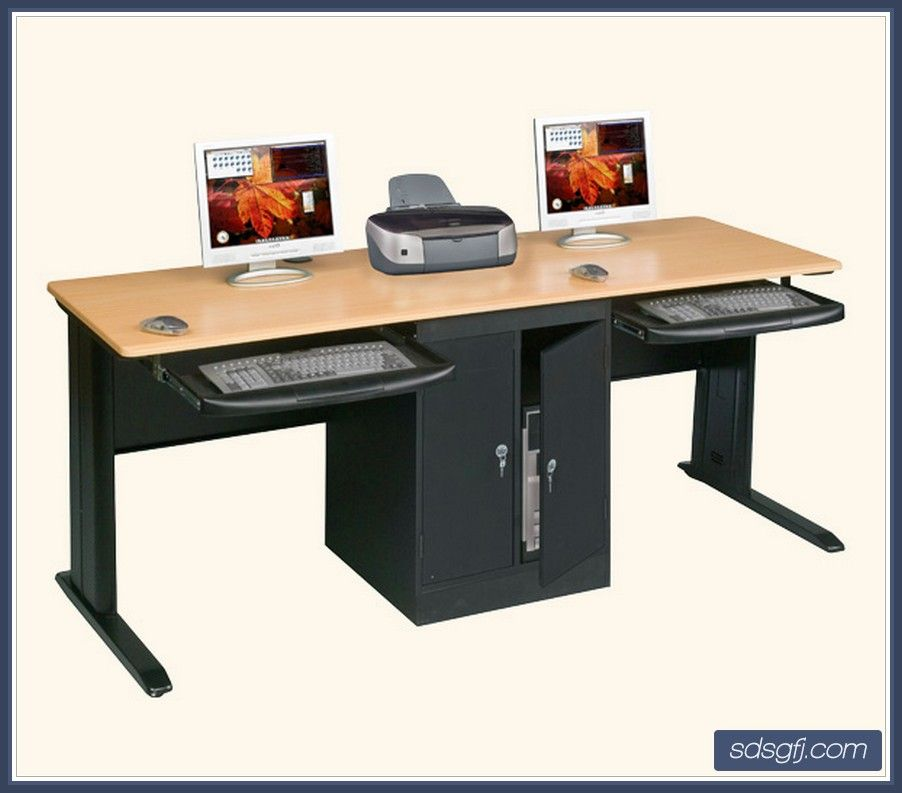 Modern Multifunctional Dual Computer Desk Furniture With