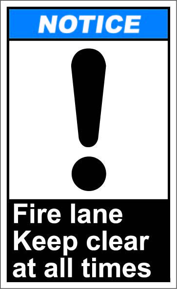 Fire lane keep clear at all times $1.64 #signs