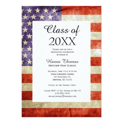 usa flag military graduation invitation in 2018 various