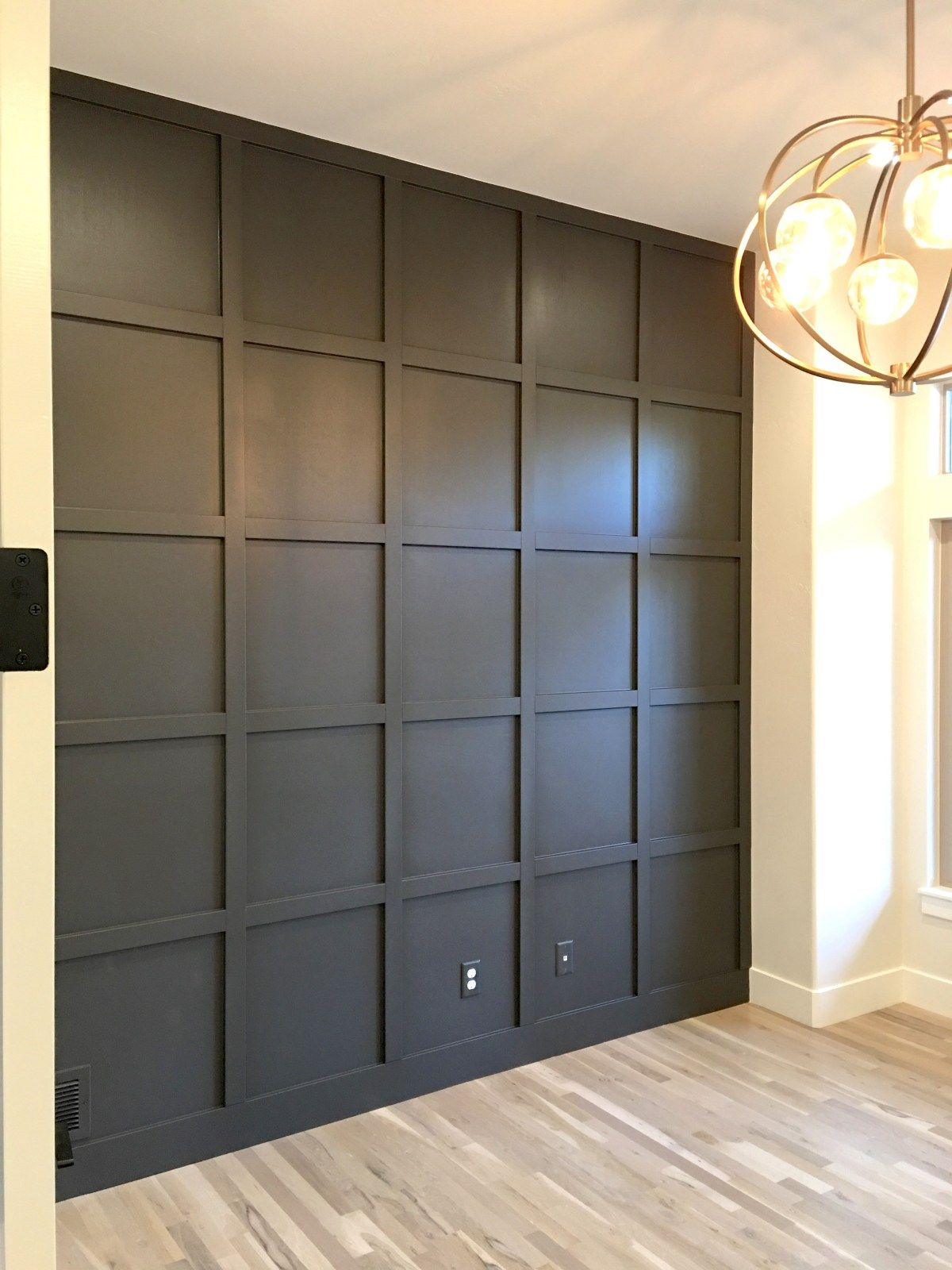 Tutorial For Creating A Perfect Grid Wall Welsh Design Studio Wall Paneling Diy Interior Wall Design Wall Panel Design