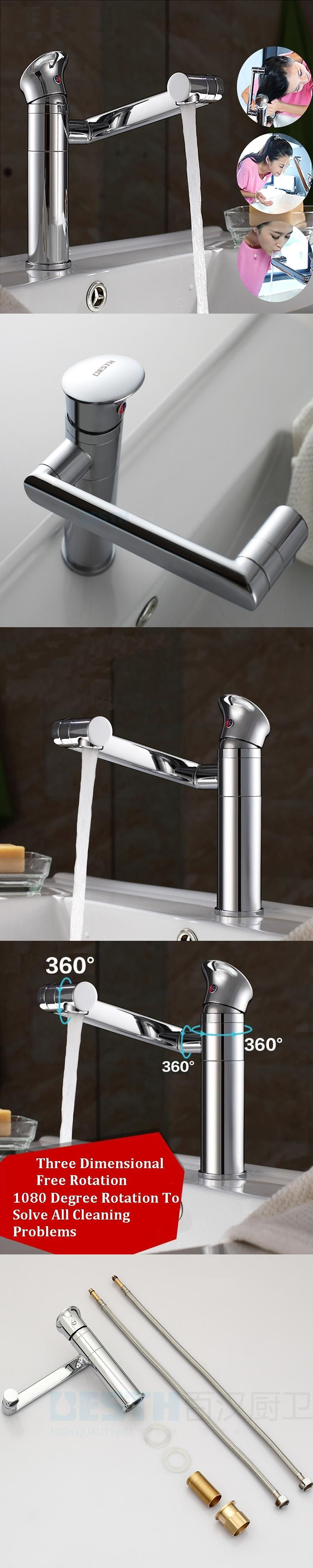 jooe Bathroom Sink Faucet Mixer Tap Swivel Easy Wash for Basin Sink ...