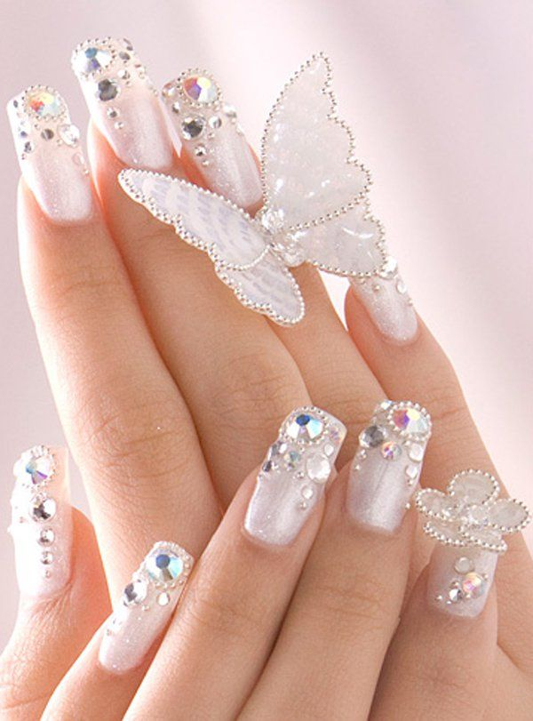 65 Examples of Nail Art Design | Bling nails, Glitter nails and Long ...
