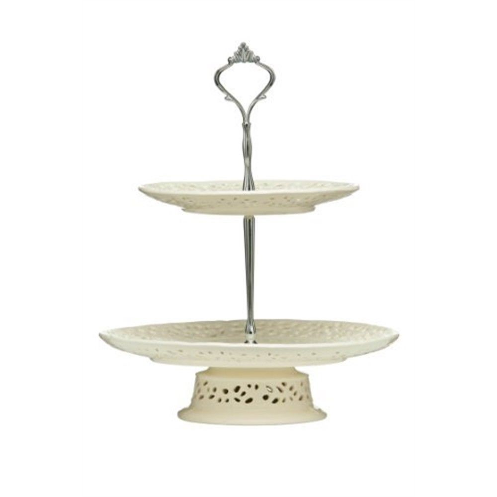 Premier Housewares 3 Tier Cake Stand Clear Glass