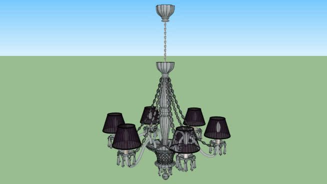 Classic crystal chandelier 6 lights 3d warehouse