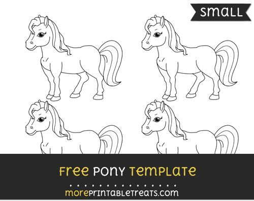 Free Pony Template - Small Shapes and Templates Printables
