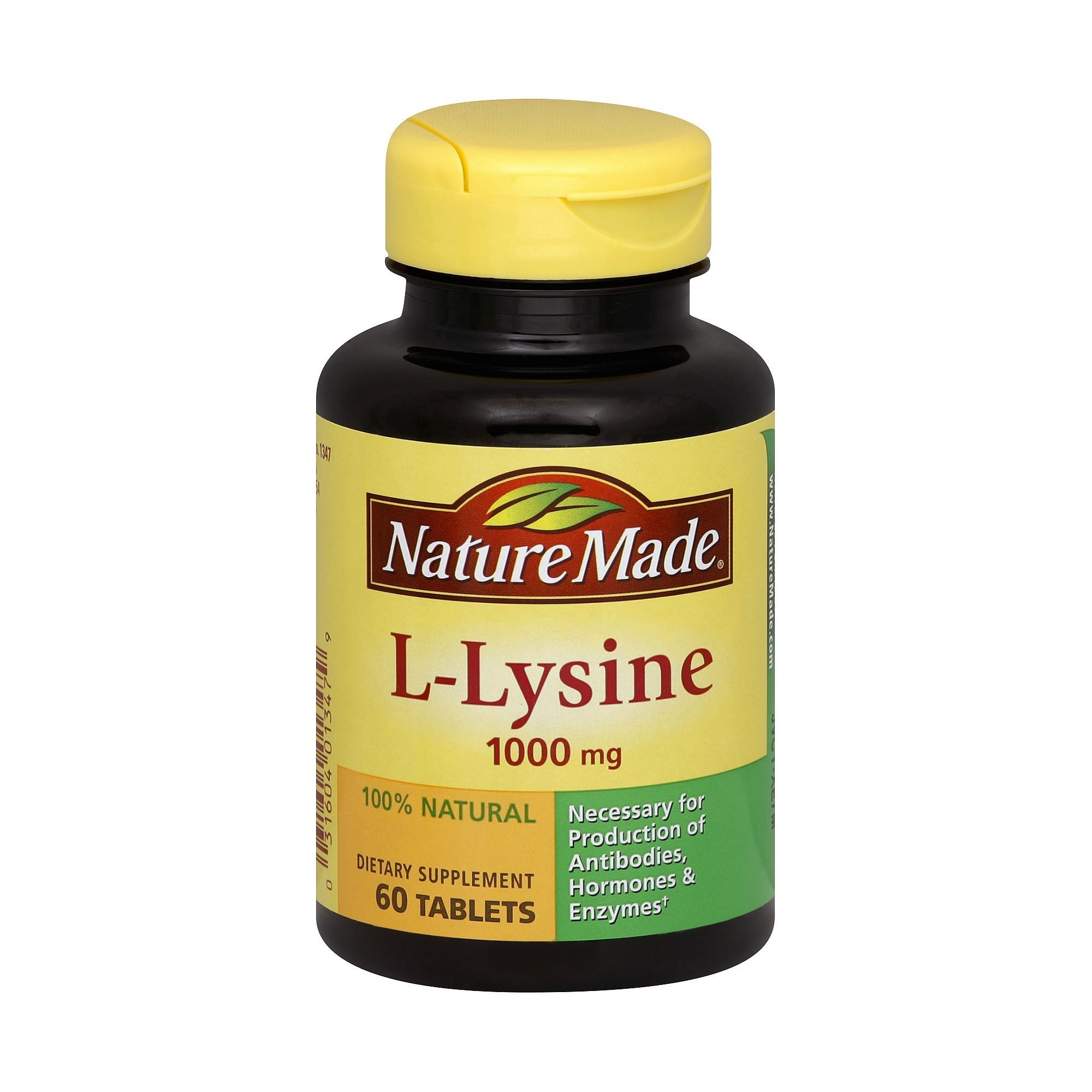 Nature Made L-Lysine Dietary SupplementTablets