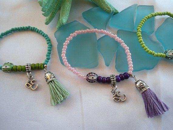 SALE OHM BRACELET Yoga Bracelet Bohemian Gypsy by Nezihe1 on Etsy 9.00