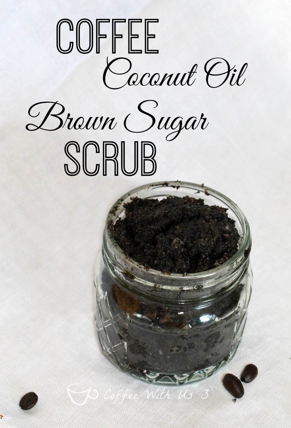 Coffee coconut oil brown sugar scrub is a great way to
