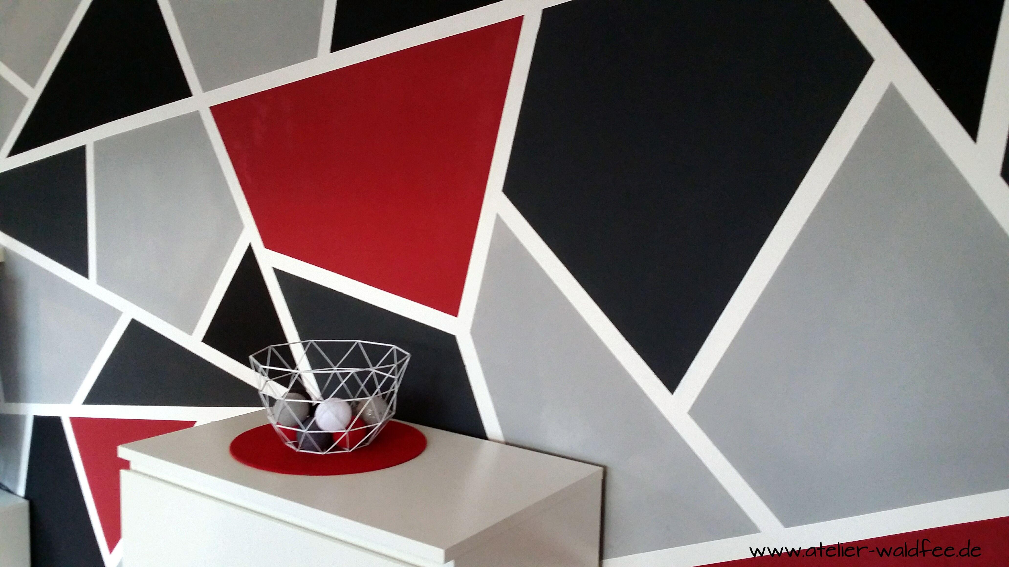 Wanddesign im Geometric-Look | Decoration