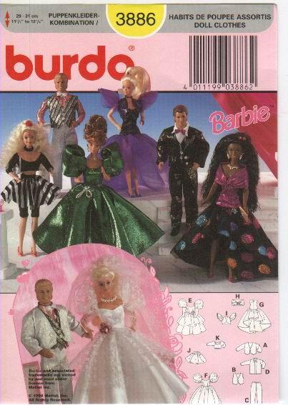 Free Copy of Pattern - Burda 3886 | Barbie Patterns - Burda ...