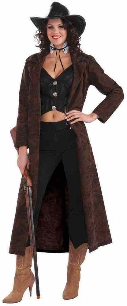 Shotgun Shelly Cowgirl Western Duster Fancy Dress Up Halloween Adult ...