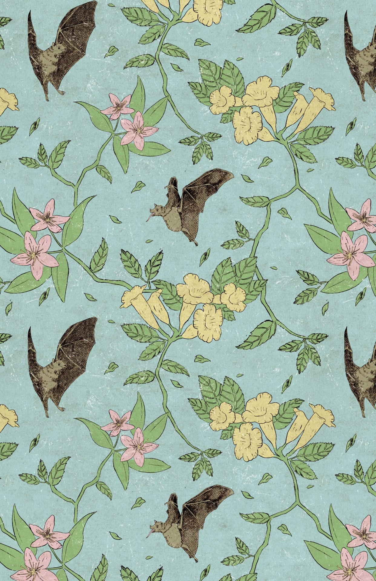 Derekq art flowers and nectar bats quite possibly the - Bat and poppy wallpaper ...