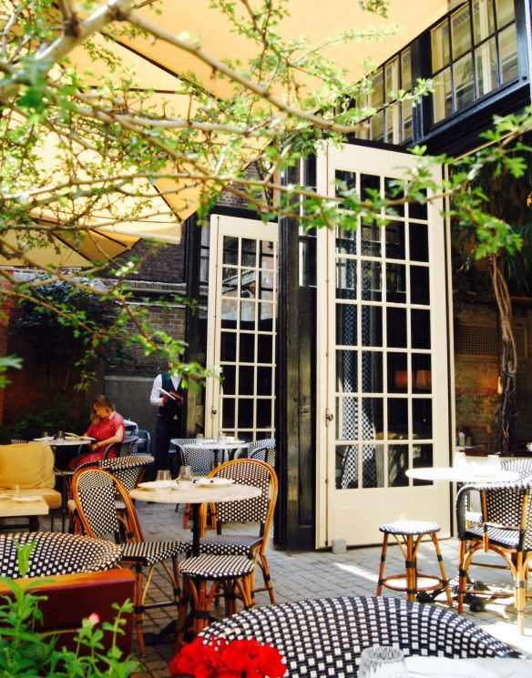 Image25 680x867 Brunch At Chiltern Firehouse Outdoor Restaurant Restaurant Door Restaurant Design
