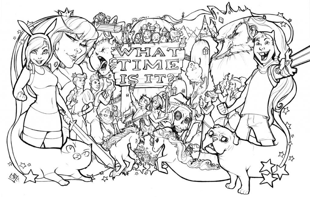 adventure time covers coloring pages - photo#28