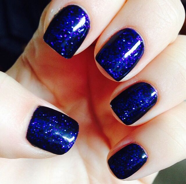 Dark blue glitter w/ navi