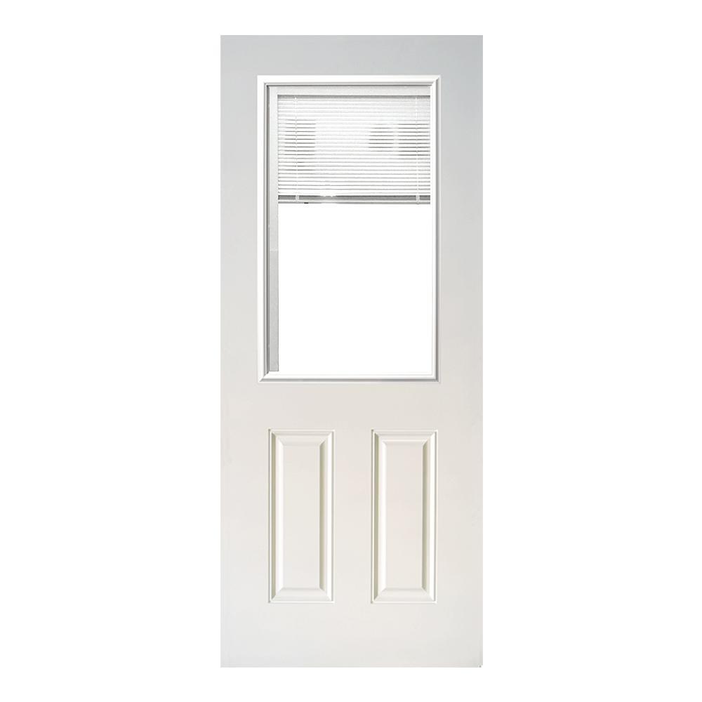 Steves Sons 31 3 4 In X 79 In Mini Blind White Primed Clear
