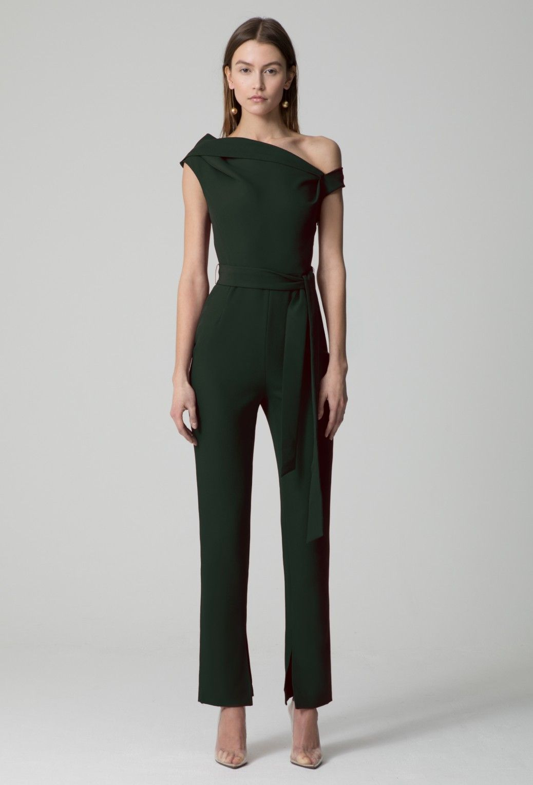 268a77d6db44 Image 3 of AQ AQ Didion Structured Jumpsuit · Khaki