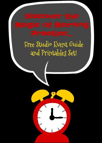 Studio Event Encouraging Morning Practice