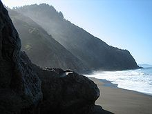 California Coast Ranges   The Coastal region has very steep ridges, and nice beaches.