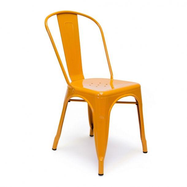 Tolix Side Chair - Orange - Set Of 2 | Memoky.com
