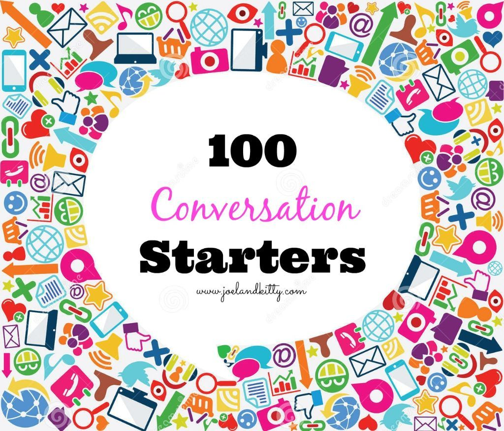 100 Conversation Starters/Icebreakers http://www.dreamstime.com/stock-images-speech-bubble-social-icon-background-image24775444