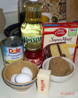 Pineapple Upside Down Cake Recipe Box Cupcakes