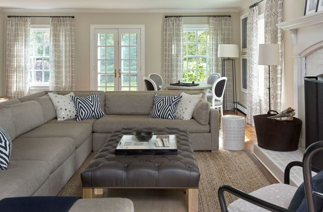 A 1920s Colonial Revival In New Jersey Gets A Modern Makeover Cozy Family Rooms Colonial Revival Living Room Sectional